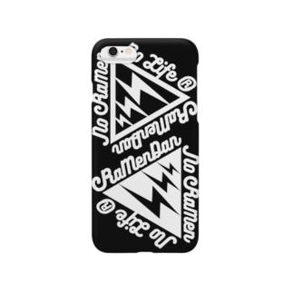 イナズマ丼ダブル 黒 Smartphone cases
