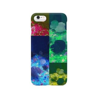 タイル風 海月 Smartphone cases