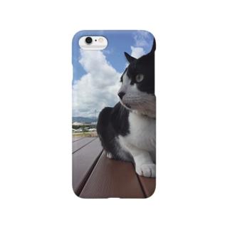 猫のピクニック Smartphone cases