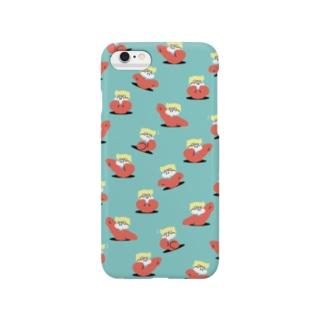 ねぐせくんがいっぱいiPhoneケース Smartphone cases