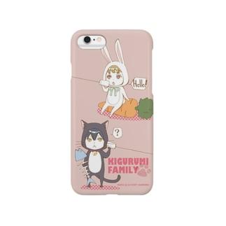 着ぐるみ一門の野望スマホケース(ピンク) Smartphone cases