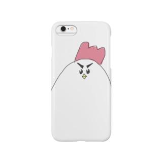 にわとりフェイス Smartphone cases