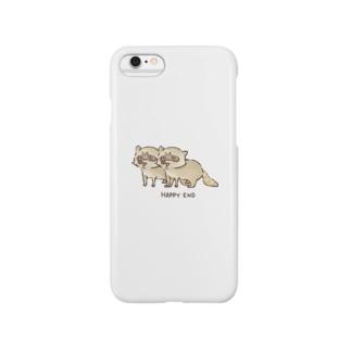 アライグマのフェ~ Smartphone cases