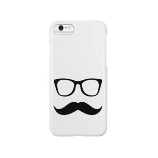 MFD 黒縁眼鏡と髭 Smartphone cases