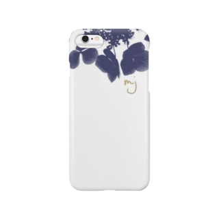 navy flower (花) Smartphone cases