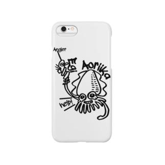 (釣りざんまい)エギに釣られるアオリイカ Smartphone cases