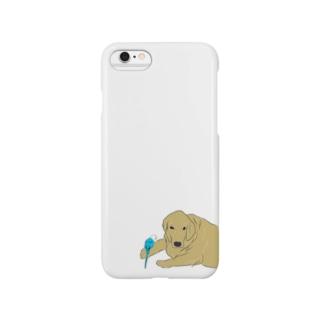 セキセイとゴールデン Smartphone cases