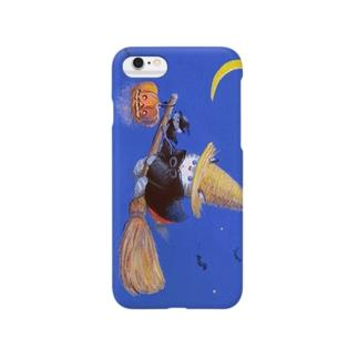 麦藁帽子をかぶった猫 ハロウィン Smartphone cases
