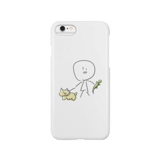 とかげと犬 Smartphone cases