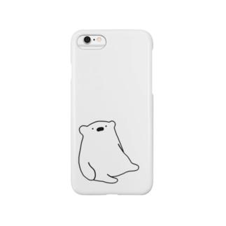ぼーっとしろくま Smartphone cases