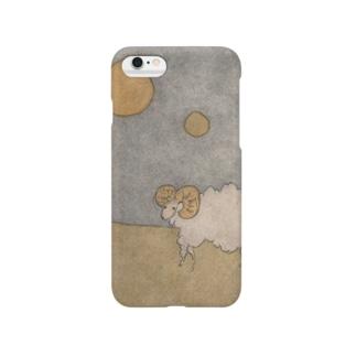 月と羊 Smartphone cases