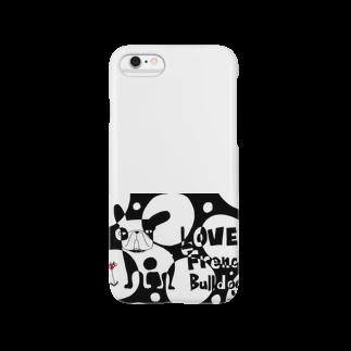 androgyneのLOVE FRENCH-BULLDOG Smartphone cases