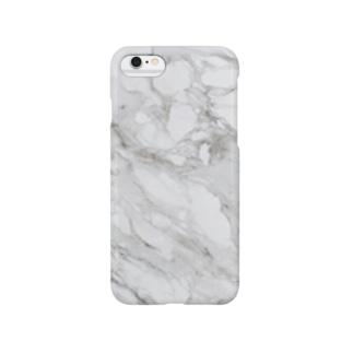 白い大理石 Smartphone cases