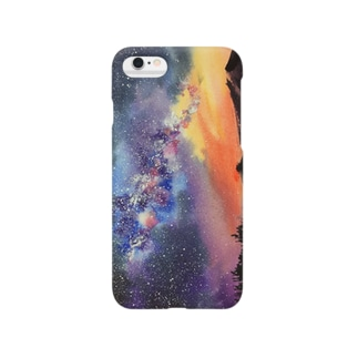 星空の水彩 Smartphone cases