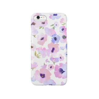 LADY FLOWER PASTEL Smartphone cases
