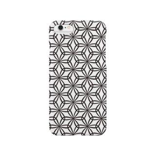"wathigaiasanoha""輪違い麻の葉"" Smartphone cases"