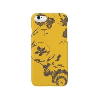 ぐっぴーの夏の草花(イエロー) Smartphone cases