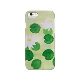 白い睡蓮 Smartphone cases