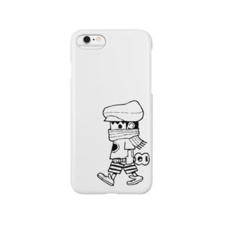 さすらいのレレボーイ(シロ) Smartphone cases
