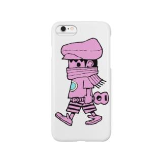 さすらいのレレボーイ(ピンク) Smartphone cases