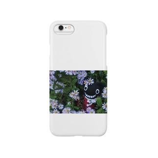 キャティと秋の花畑 Smartphone cases