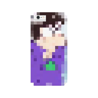 一松事変カラ松iPhoneケース  (手描き)おそ松さん スマートフォンケース