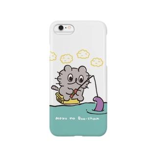 ねこのぶーちゃん(つりぼり) Smartphone cases