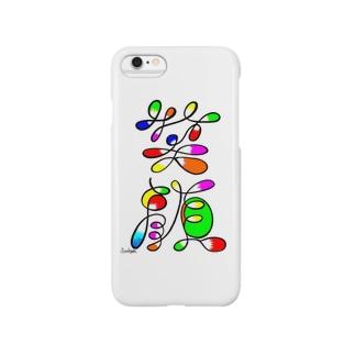 アート文字【笑顔】 Smartphone cases