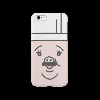 TONKATSU GOODS SHOPのOJISAN FACE CASEスマートフォンケース