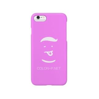 コロンピさんのiPhoneケース ピンク Smartphone cases