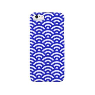 和柄(青海波) Smartphone cases