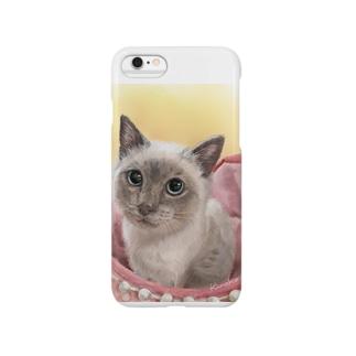 里親会保護猫ちゃん4 スマートフォンケース