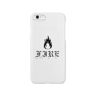 Black FIRE  (ロゴ入り) Smartphone cases