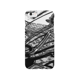 見切れ十二単 Smartphone cases