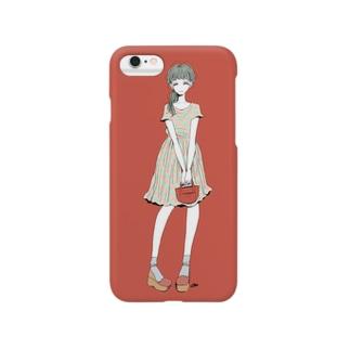 女の子03 スマートフォンケース