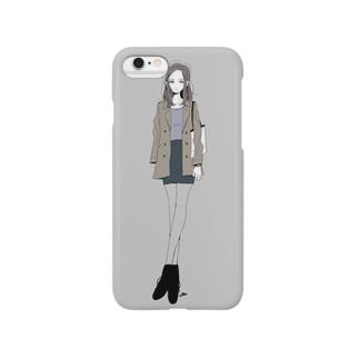 女の子04 スマートフォンケース