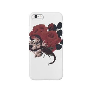 蠍と薔薇 Smartphone cases