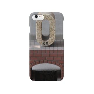 ゼロ キロポストー片面プリント  Smartphone cases