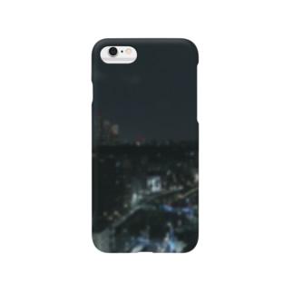 TENRIVERS_FILM 応援グッズのTENRIVER_FILM 応援グッズ 夜の街 背面プリント 前面ロゴ Smartphone cases