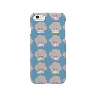 イロメガネナアフロ Smartphone cases