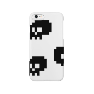 シャレコウベ(白) Smartphone cases