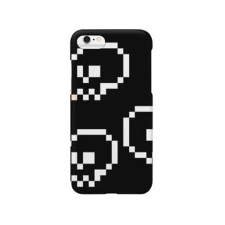 シャレコウベ(黒) Smartphone cases