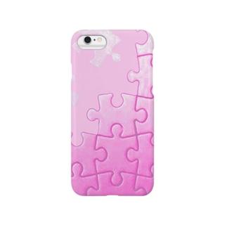ピンクジグソー Smartphone cases