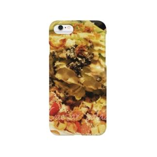 showtaのシーザーサラダ(文字入り) Smartphone cases
