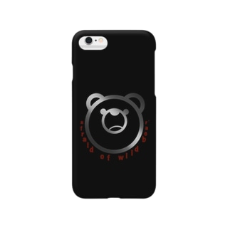 afraid of wild bear.Black Smartphone cases