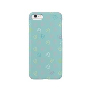 おやまくまいっぱい(ミント) Smartphone cases