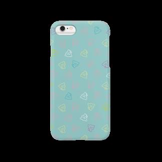 おやまくまオフィシャルWEBSHOP:SUZURI店のおやまくまいっぱい(ミント)スマートフォンケース