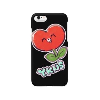 しょくぶつマン(赤)黒ケース Smartphone cases