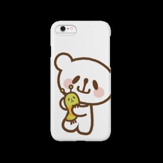 おやまくまオフィシャルWEBSHOP:SUZURI店のなかよしおやまくまとおやまむしスマートフォンケース