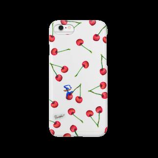 BenizakeのFruit series!! -cherry- white Smartphone cases